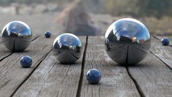 Balls Wood Reflection Depth 3D Bokeh