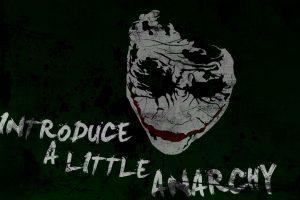 Batman Quotes The Joker Typography Anarchy Paint Splatter
