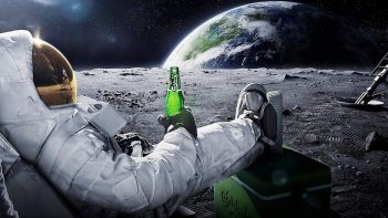 Beers Outer Space Moon Earth Funny Spaceships Relaxing Carlsberg Space Suits Cosmonaut