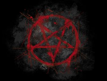 Black Red Pentagram