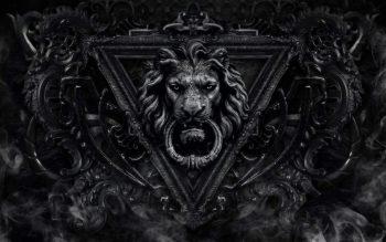 Crest Lion Door Artwork