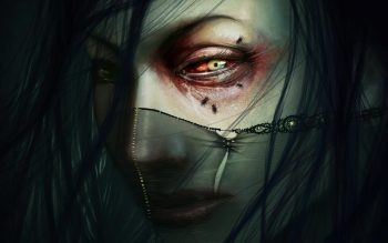 Dark Horror Gothic Face Eyes Gore Gross Fly Mood Art Get Neat Image For Free