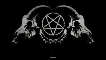 Dark Horror Gothic Occult Satan Penta Symbol Skull Horns Get Image