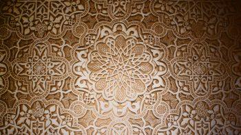 Dark Pattern Stars Design Mosaic Arabian Islamic