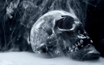 Dark Skull Horror Scary Creepy Spooky Evil Occult Bone Teeth Eyes Steam Mist Cold Frozen Cg Digital Art 3D Macabre Death Reaper Neat Image For Free