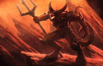 Demons Trident Horns Fantasy Demon Warrior Warriors Dark Get Neat Image For Free