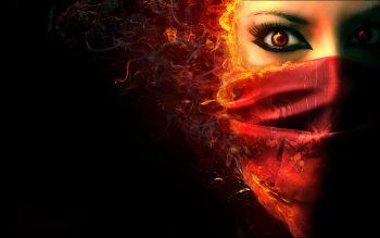 Fantasy Dark Horror Face Demon Evil Women Neat Image For Free