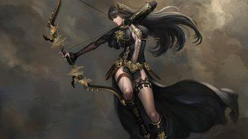 Fantasy Woman Dress Long Hair Warrior