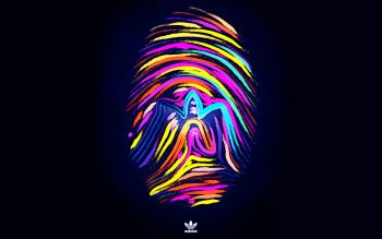 Fingerprints Brand Make Adidas Sports Background Photographs Colorful