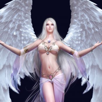 Girl Wing Angel Beauty Pendant