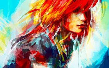 Hayley Williams Women Paintings Redheads Artwork Drawings Alice X Zhang High Resolution iPhone Photograph