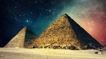 Landscapes Egypt Digital Art Pyramids Night Sky