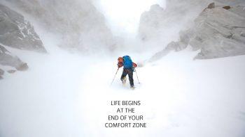 Life Snow Climb Hike Comfort Zone