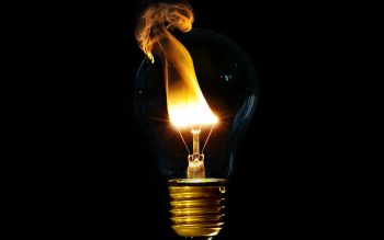 Light Fire Light Bulbs Black Background Neat Image For Free