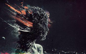 Manipulation Cg Digital 3D Fractal Shatter Psychedelic Skulls Dark Abstract Weird Colors