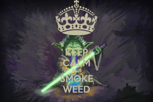 Marijuana Weed Ganja Star Wars G Colorful Photograph Free Get