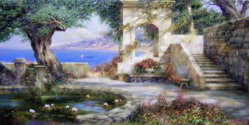 Miliukov Alexander Sun Shade Crimea Sea Sail Pond Water Lilies Flowers