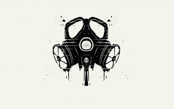 Minimalistic Gas Masks Simple Background Neat Image For Free