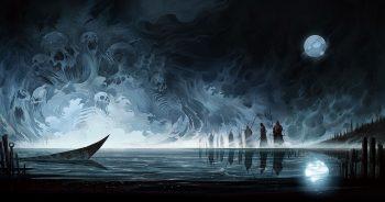 Monster Moon Night Fantasy Skull Demon Reaper