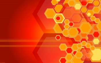 Orange Hexagons High Resolution iPhone Photograph