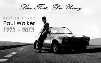 Paul Walker Fast Furious Ford Classic Car Classic Bw Rip