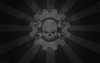 Skull Black Death Dark Gray Mechanical Plain Neat Image For Free