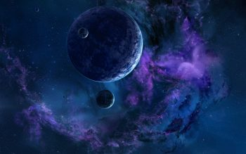 Space 3D Art Planet Stars Nebula G High Resolution iPhone Photograph