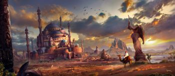 Statue Cacti Art Pursue Ruins Feng Liu The City Fantasy Castle