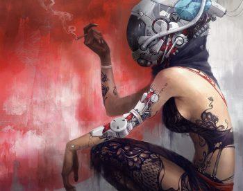 Technics Robot Helmet Tattoo Fantasy Cyborg
