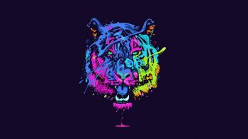 Tiger Tiger Predator Carnivore Cat Artwork Psychedelic