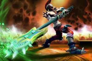 Vainglory Moba Online Fighting Fantasy Green Warrior Action