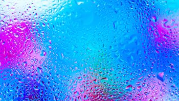 Windows Glass Colors Rain Drops Abstracts Mood