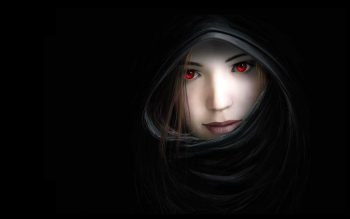 Women Dark Mouth Red Eyes Artwork Noses Hooded Witches Black