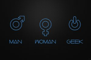 Women Geek Men Funny Digital Art Black Background